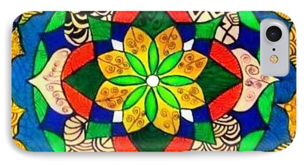 Mandala Circle Of Life Phone Case by Sandra Lira