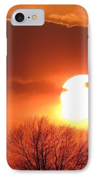Mango Sunset Kansas Tree Silhouette IPhone Case