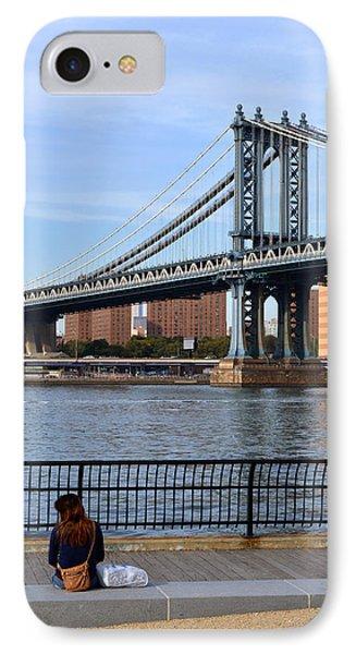 Manhattan Bridge2 IPhone Case by Zawhaus Photography