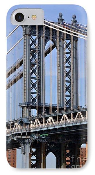 Manhattan Bridge3 IPhone Case by Zawhaus Photography