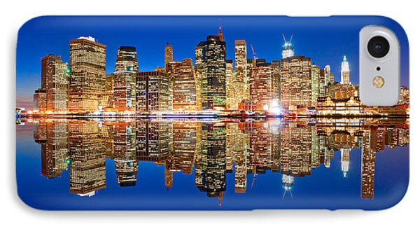 IPhone Case featuring the photograph Manhattan by Luciano Mortula