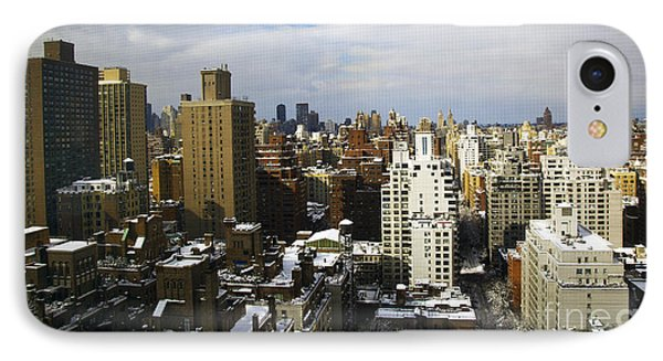 Manhattan View On A Winter Day IPhone Case by Madeline Ellis