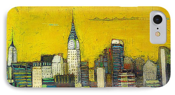 Manhattan With Chrysler And Empie Phone Case by Habib Ayat