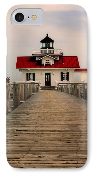 IPhone Case featuring the photograph Manteo Lighthouse by Cindy Haggerty