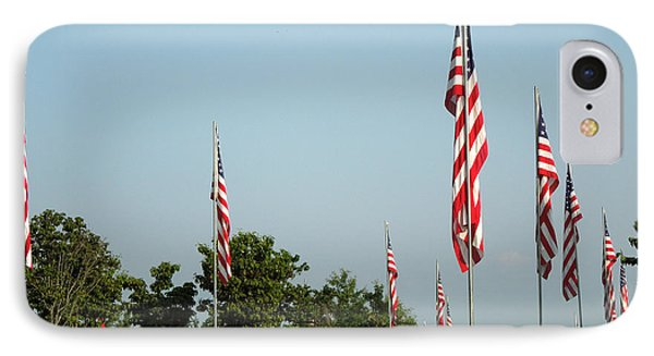 Many American Flags Phone Case by Renee Trenholm