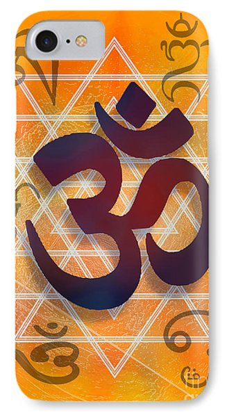 IPhone Case featuring the digital art Many Faces Of Om by Ginny Schmidt