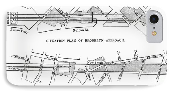 Map: Brooklyn Bridge Phone Case by Granger
