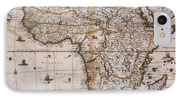 Map Of Africa, 1688 Phone Case by Photo Researchers