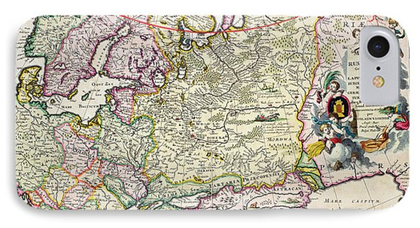 Map Of Asia Minor Phone Case by Nicolaes Visscher