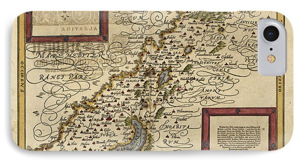 Map Of Palestine, 1588 Phone Case by Photo Researchers