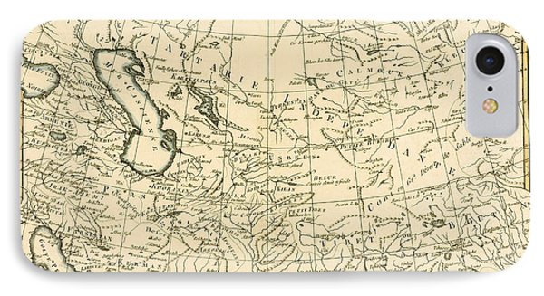 Map Of Persia IPhone Case by Guillaume Raynal