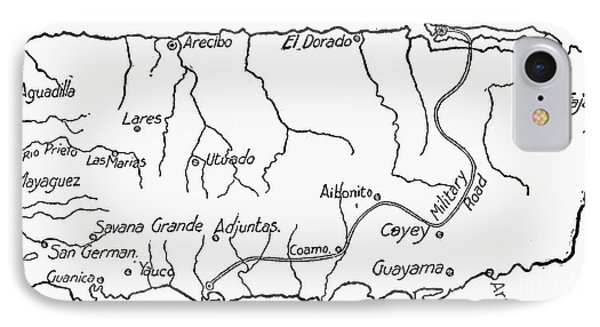 Map Of Puerto Rico, 1899 Phone Case by Granger