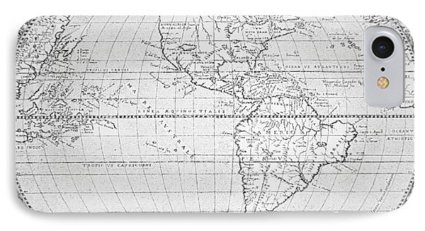 Map Of The New World 1587 Phone Case by Richard Hakluyt