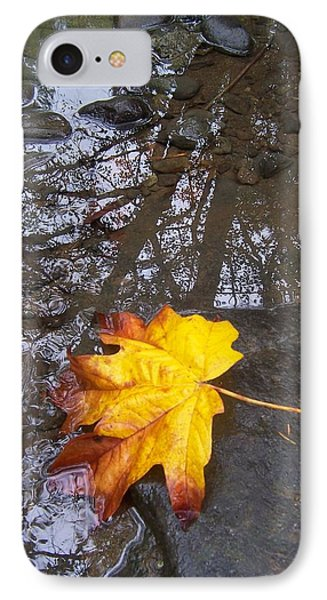 IPhone Case featuring the photograph Maple Leaf Reflection 1 by Peter Mooyman