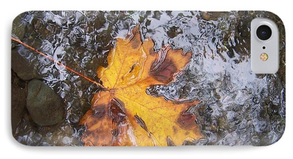 IPhone Case featuring the photograph Maple Leaf Reflection 2 by Peter Mooyman
