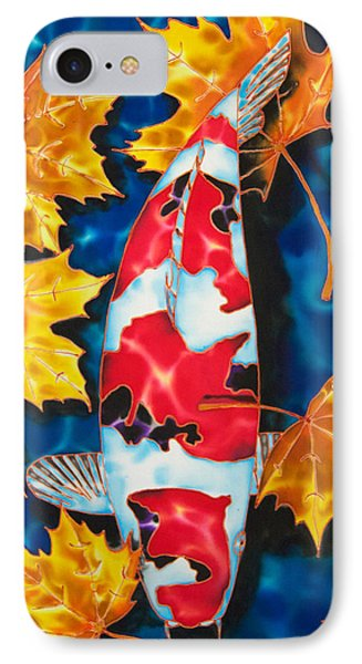 Maple Leaves And Koi Phone Case by Daniel Jean-Baptiste