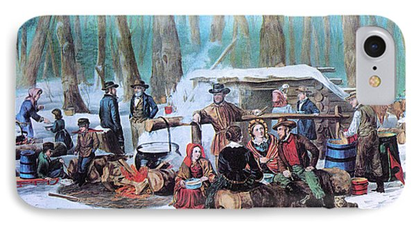 Maple Sugaring, 1872 Phone Case by Photo Researchers