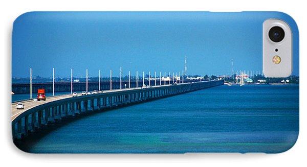 Marathon And The 7mile Bridge In The Florida Keys Phone Case by Susanne Van Hulst