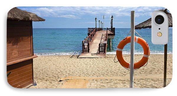 Marbella Beach In Spain Phone Case by Artur Bogacki