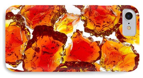 Marble Red Crackle Broken 1 B Phone Case by John Brueske