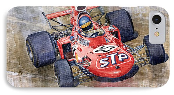 March 711 Ford Ronnie Peterson Gp Italia 1971 Phone Case by Yuriy  Shevchuk