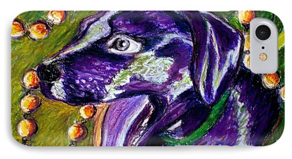 IPhone Case featuring the painting Mardi Dog by D Renee Wilson