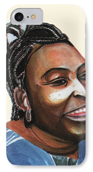 Mariama Ba IPhone Case by Emmanuel Baliyanga
