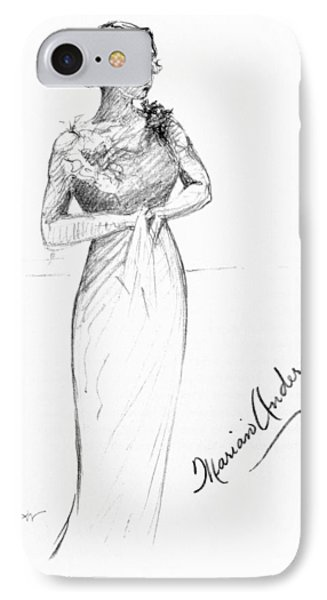 Marian Anderson (1897-1993) IPhone Case by Granger