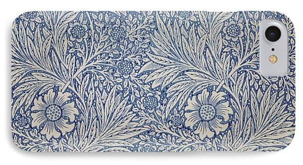 Marigold Wallpaper Design Phone Case by William Morris