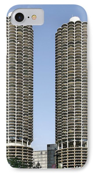 Marina City Chicago - Life In A Corn Cob Phone Case by Christine Till