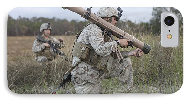 Marines Conduct A Simulated Attack IPhone Case by Stocktrek Images