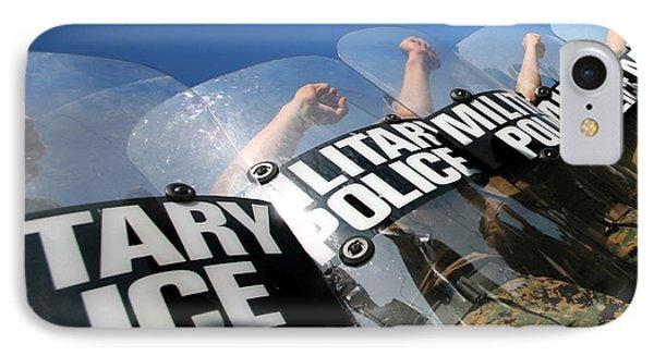 Marines Practice Riot Control Phone Case by Stocktrek Images