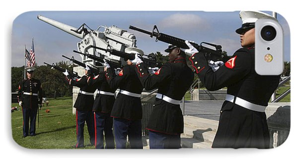 Marines Practices Drill Movements Phone Case by Stocktrek Images