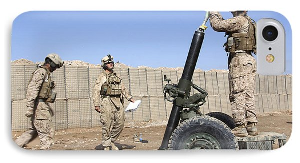 Marines Prepare To Fire A 120mm Mortar Phone Case by Stocktrek Images