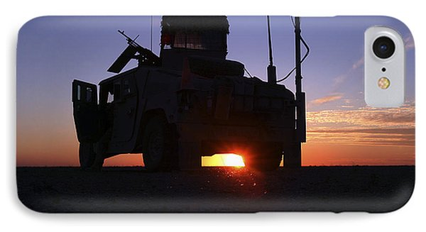 Marines Take Up A Security Position IPhone Case by Stocktrek Images