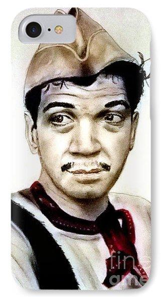 Mario Moreno As Cantinflas In El Bombero Atomico  Phone Case by Jim Fitzpatrick