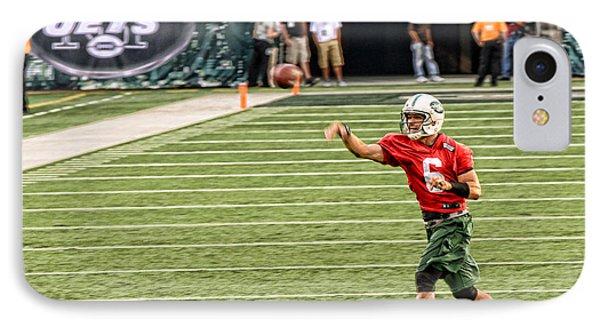 Mark Sanchez Ny Jets Quarterback Phone Case by Paul Ward