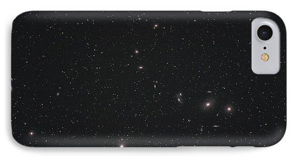 Markarians Chain Galaxies IPhone Case by Phillip Jones