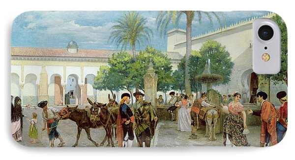 Market Day In Spain IPhone Case by Filippo Baratti