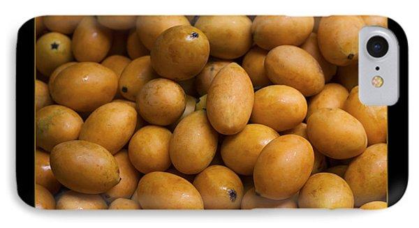 Market Mangoes Against Black Background Phone Case by Zoe Ferrie
