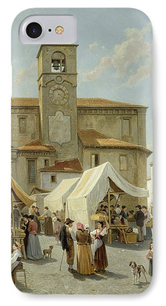 Marketday In Desanzano  Phone Case by Jacques Carabain