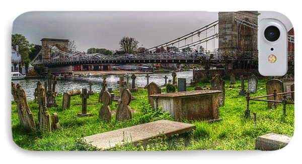 Marlow Bridge From All Saints Graveyard Phone Case by Chris Day