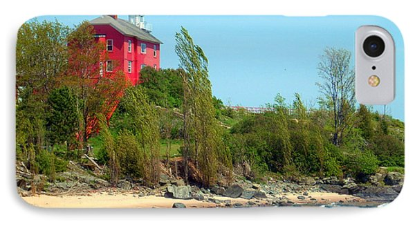 IPhone Case featuring the photograph Marquette Harbor Lighthouse by Mark J Seefeldt