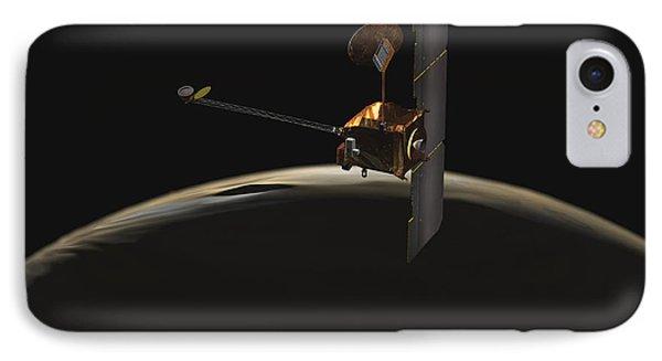 Mars Odyssey Spacecraft Over Martian Phone Case by Stocktrek Images