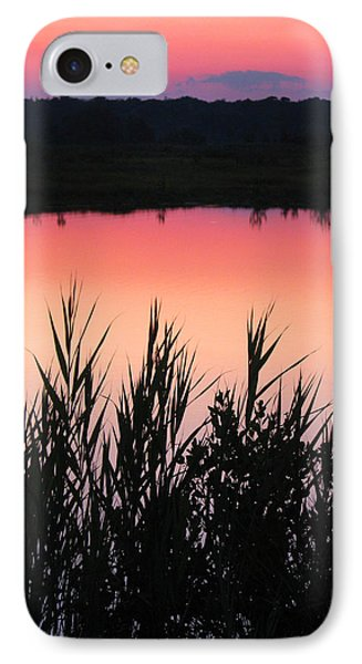 IPhone Case featuring the photograph Marsh Sunset by Clara Sue Beym
