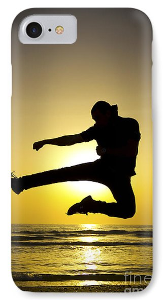 Martial Arts Silhouette Phone Case by Guy Viner