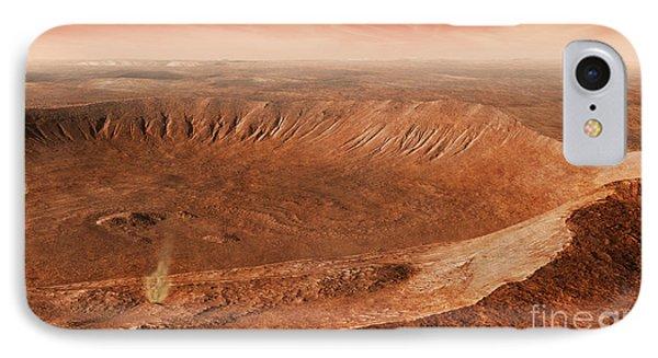 Martian Gullies In Noachis Terra, Mars Phone Case by Steven Hobbs