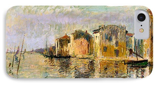 Martigues In The South Of France Phone Case by Gustave Loiseau