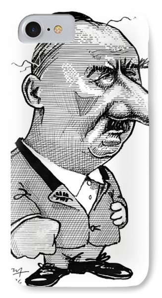 Martin Heidegger, Caricature Phone Case by Gary Brown
