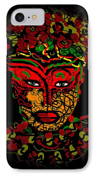 Masked Beauty Phone Case by Natalie Holland